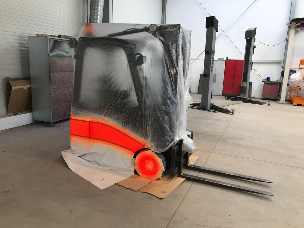 Lackreparaturen an Baumaschinen - Autoservice Jan Lehmann in Leipzig
